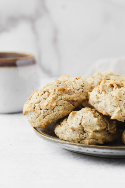 Easy Paleo Drop Biscuits sitting on a plate